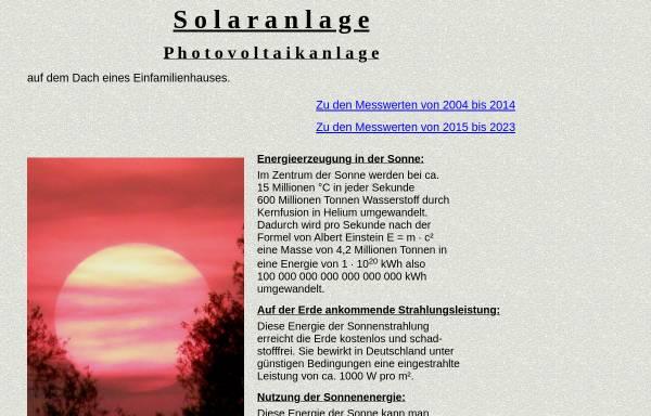 Vorschau von www.solaranlage-tiemann.de, Photovoltaikanlage auf Einfamilienhaus