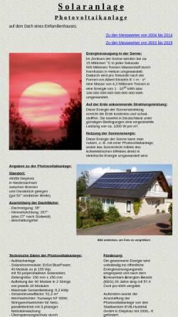 Vorschau der mobilen Webseite www.solaranlage-tiemann.de, Photovoltaikanlage auf Einfamilienhaus