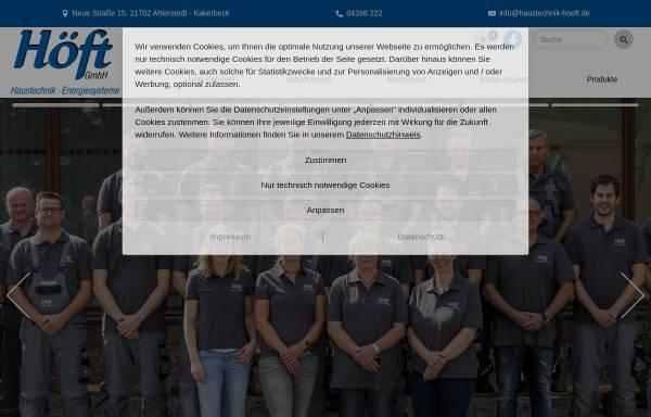 Vorschau von www.haustechnik-hoeft.de, Höft GmbH Haustechnik