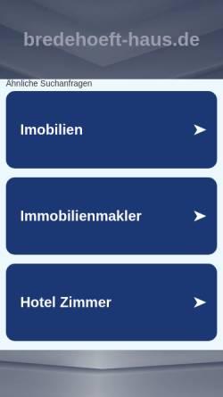 Vorschau der mobilen Webseite www.bredehoeft-haus.de, Peter Bredehöft
