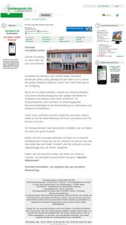 Vorschau der mobilen Webseite www.immopool.de, Schröder GmbH