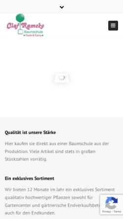 Vorschau der mobilen Webseite www.olaf-ramcke.de, Olaf Ramcke Pflanzenhandel