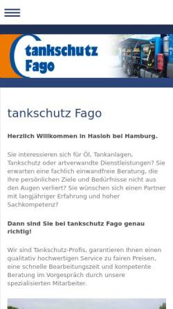 Vorschau der mobilen Webseite www.tankschutz-fago.de, Tankschutz Fago GmbH
