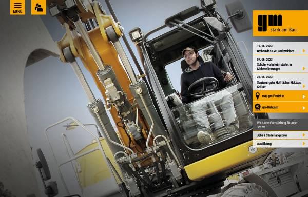 Vorschau von www.gm-biberach.de, Grüner und Mühlschlegel Bauunternehmen GmbH & Co. KG