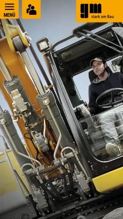 Vorschau der mobilen Webseite www.gm-biberach.de, Grüner und Mühlschlegel Bauunternehmen GmbH & Co. KG