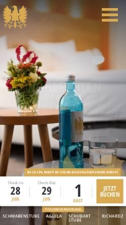 Vorschau der mobilen Webseite www.adler-asperg.de, Hotel Adler Asperg