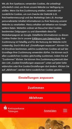 Vorschau der mobilen Webseite www.ksk-tuebingen.de, Kreissparkasse Tübingen