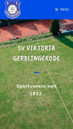 Vorschau der mobilen Webseite sv-gerblingerode.de, Gerblingerode