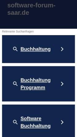 Vorschau der mobilen Webseite www.software-forum-saar.de, SFS Software Forum Saar