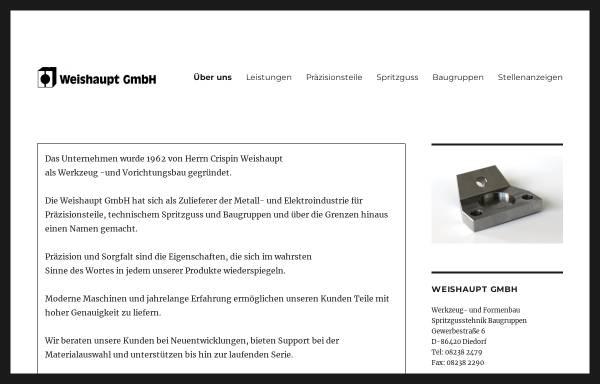 Vorschau von www.weishauptgmbh.de, Spritzgußtechnik Weishaupt GmbH