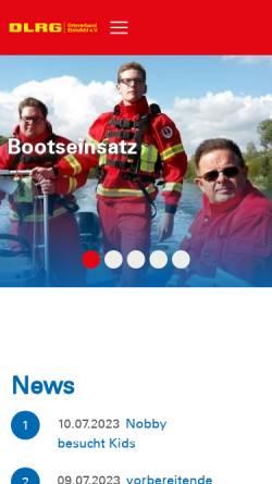 Vorschau der mobilen Webseite eichsfeld.dlrg.de, DLRG Eichsfeld e.V.