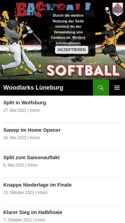 Vorschau der mobilen Webseite www.woodlarks.de, Lüneburg Woodlarks
