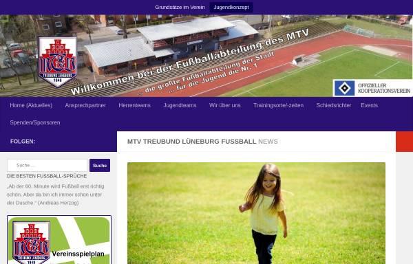 Vorschau von www.mtv-treubund-fussball.de, MTV Treubund Lüneburg 1848 - Junioren