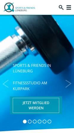 Vorschau der mobilen Webseite www.sportsandfriends.de, Sports & friends