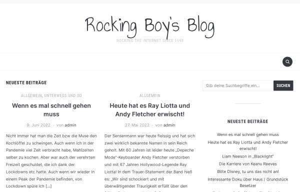 Vorschau von www.rockingboy.de, Rockingboy Online Magazin