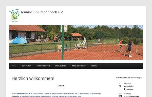 Vorschau von www.tc-fredenbeck.de, Tennisclub Fredenbeck e.V.