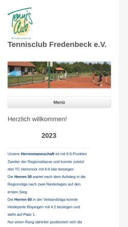 Vorschau der mobilen Webseite www.tc-fredenbeck.de, Tennisclub Fredenbeck e.V.