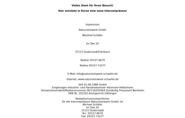 Vorschau von www.natursteinwerk-schaefer.de, Natursteinwerk Manfred Schäfer GmbH