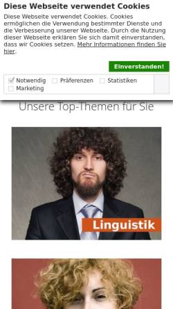 Vorschau der mobilen Webseite www.narr.de, Gunter Narr Verlag/A. Francke Verlag/Attempto Verlag