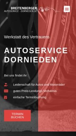 Vorschau der mobilen Webseite autoservice-dornieden.de, Breitenberger Auto & Reifenservice