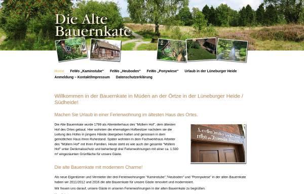 Vorschau von www.bauernkate-mueden.de, Ferienwohnungen Alte Bauernkate