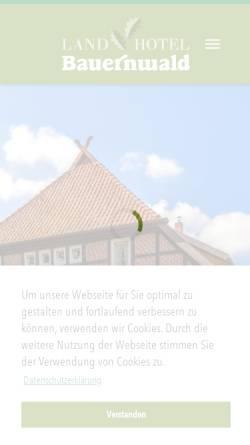 Vorschau der mobilen Webseite www.landhotel-bauernwald.de, Landhotel Bauernwald