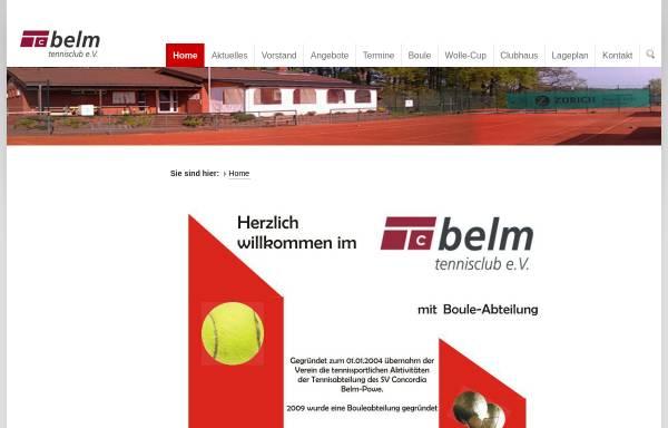 Vorschau von tennis-belm.de, Tennisclub Belm e.V.
