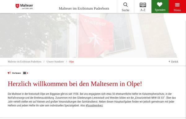 Vorschau von www.malteser-olpe.de, Malteser Hilfsdienst, Ortsgruppe Olpe