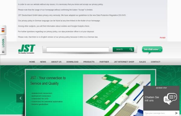 Vorschau von www.jst.de, J.S.T. Deutschland GmbH