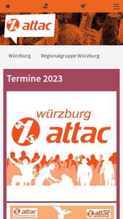 Vorschau der mobilen Webseite www.attac-netzwerk.de, Attac Würzburg