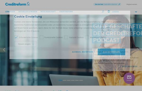 Vorschau von www.creditreform-bocholt.de, Creditreform Bocholt Isert KG