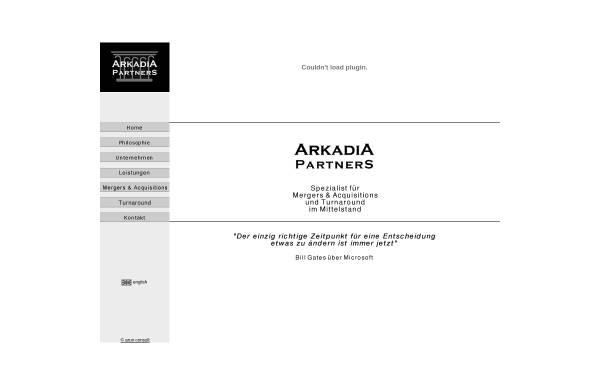 Vorschau von arkadia-partners.de, Arkadia Partners GbR