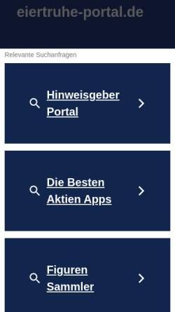 Vorschau der mobilen Webseite www.eiertruhe-portal.de, Eiertruhe-Portal