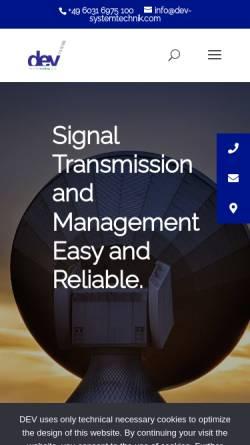 Vorschau der mobilen Webseite www.dev-systemtechnik.de, DEV Systemtechnik GmbH