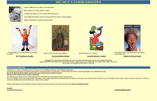 Vorschau von www.hjfhenze.de, Helmuts Sammlerseiten