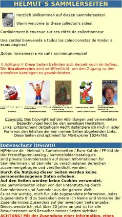 Vorschau der mobilen Webseite www.hjfhenze.de, Helmuts Sammlerseiten