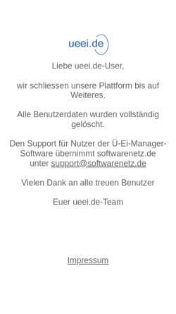 Vorschau der mobilen Webseite www.ueei.de, Ueei.de