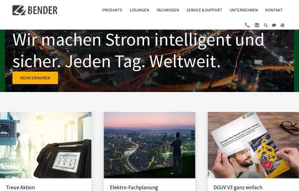 Vorschau von www.bender-de.com, Bender GmbH & Co. KG