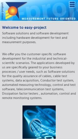 Vorschau der mobilen Webseite www.easy-project.de, Easy-Project - Dipl.-Ing.(FH) Wolfgang Knoblich