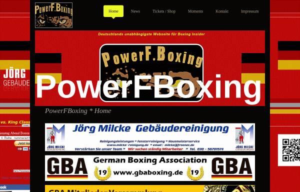 Vorschau von www.powerfboxing.com, PowerF.Boxing