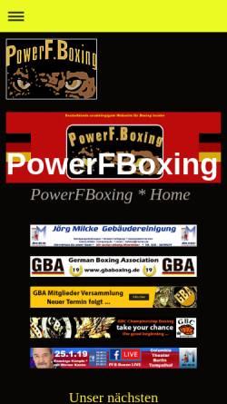 Vorschau der mobilen Webseite www.powerfboxing.com, PowerF.Boxing