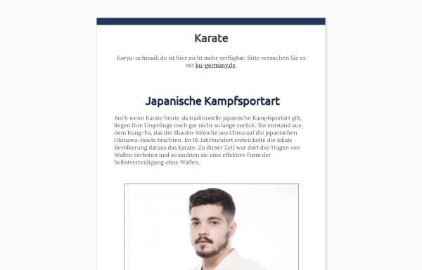 Vorschau von www.koryu-uchinadi.de, Koryu Uchinadi Honbu Dojo