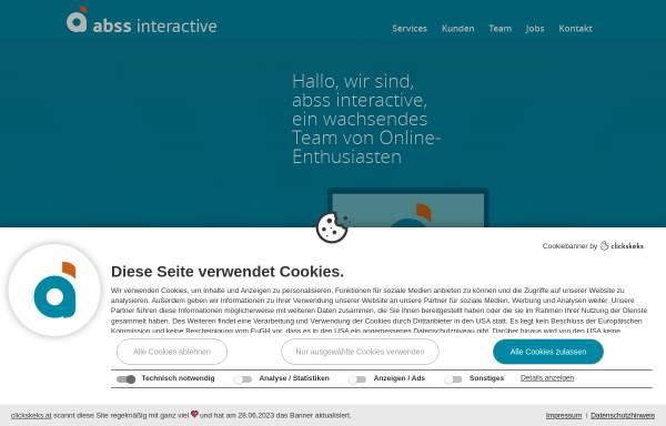 Vorschau von www.abss.at, ABSS websolutions for you GnbR