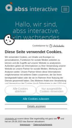 Vorschau der mobilen Webseite www.abss.at, ABSS websolutions for you GnbR