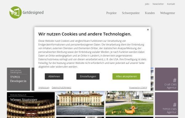 Vorschau von www.getdesigned.at, Getdesigned GmbH