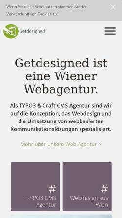 Vorschau der mobilen Webseite www.getdesigned.at, Getdesigned GmbH