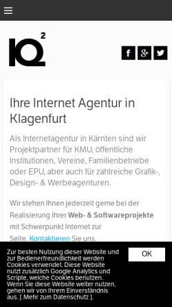 Vorschau der mobilen Webseite www.iq2.at, Informations- und Kommunikationssysteme Reschun und Partner KEG