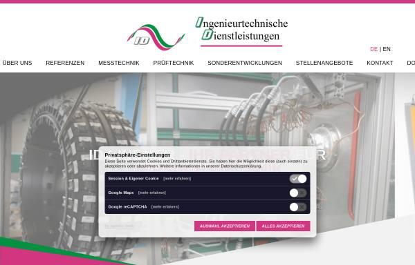 Vorschau von www.id-lindner.de, ID Ingenieurtechnische Dienstleistungen, Inh. Dipl.-Ing. (FH) Gallus Lindner