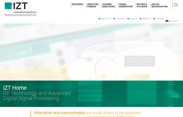 Vorschau von www.izt-labs.de, Innovationszentrum für Telekommunikationstechnik GmbH IZT
