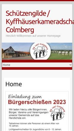 Vorschau der mobilen Webseite sg-colmberg.com, Schützengilde 1883/Kyffhäuserkameradschaft 1873 Colmberg e.V.